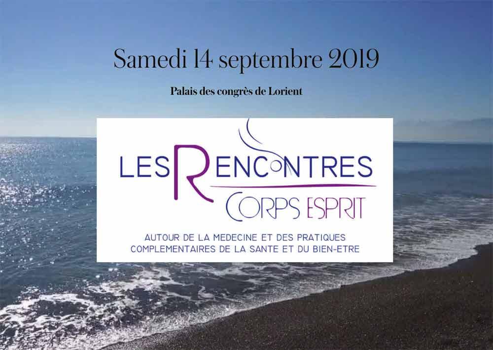 Rencontres Corps et Esprits le 14 septembre 2019 à Lorient avec Caroline Hegoburu, thérapeute integrative transpersonnelle.